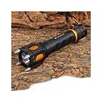 E-SMART Rechargeable 800lm 5-Mode Cool White Light Self-Defense Tactical Flashlight (1 x 18650) Black