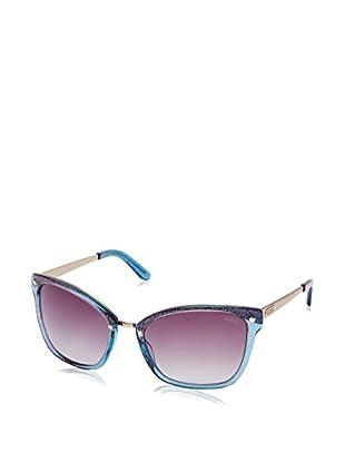 GUESS Sonnenbrille 7353 (58 mm) blau/rosa
