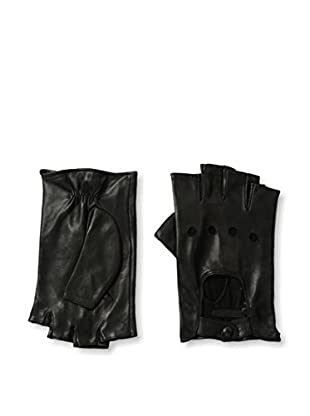 Portolano Women's Fingerless Driving Gloves with Snap Closure (Black)
