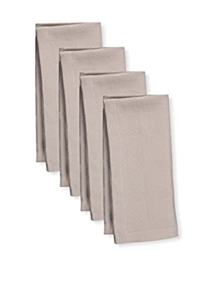 KAF Home Set of 4 Solid Napkins, Oatmeal