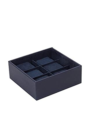WOLF 6-Watch Stackable Tray, Navy