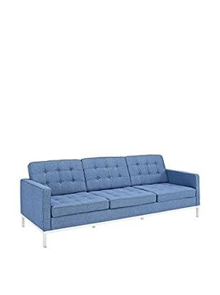 Modway Loft Sofa (Blue Tweed Wool)