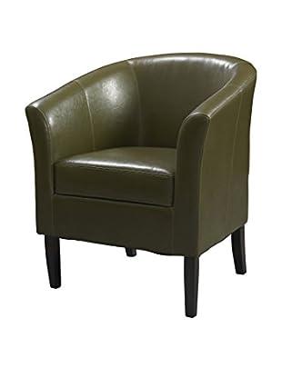 Linon Home Décor Simon Club Chair, Cedar