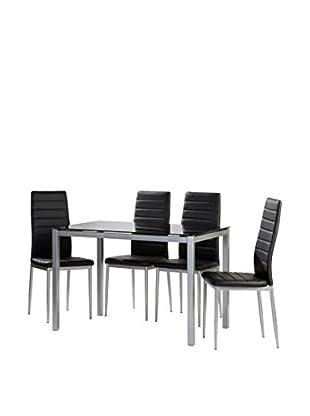 KITCHEN FURNITURE & DECO HOME Küchentisch schwarz/grau