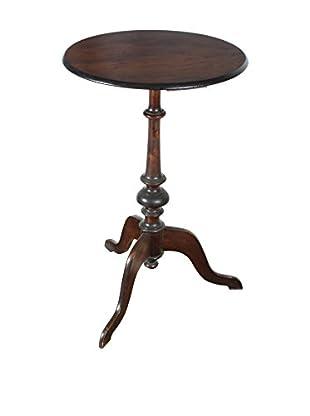 Maple Pedestal End Table, Brown