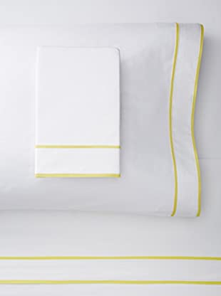 Blissliving Home Ayanna Sheet Set (White/Citron)