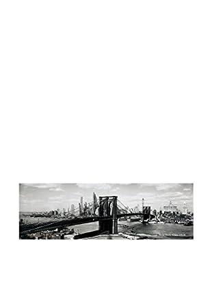 ArtopWeb Panel de Madera The Brooklyn Bridge, Nyc, 1938 33x100 cm