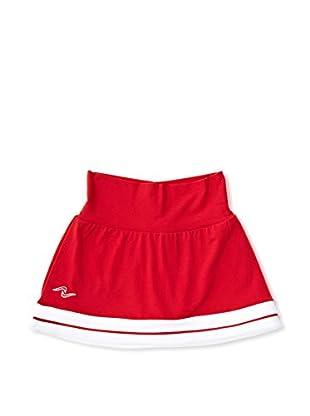 Naffta Falda Short Niña (Rojo / Blanco)