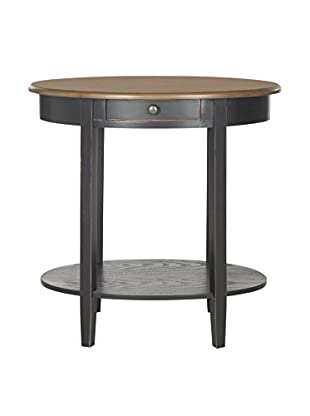 Safavieh Monica Oval End Table, Antique Black