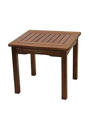 Outdoor Interiors Eucalyptus Accent Table, Brown