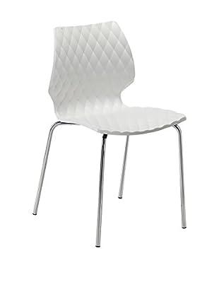 Metalmobil Stuhl 2er Set Uni-550 weiß