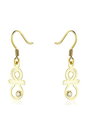 Cordoba Jewels Pendientes Chupe plata de ley 925 milésimas bañada en oro