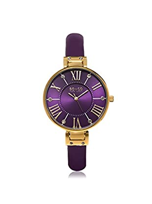 SO & CO Women's 5091.2 SoHo Purple Leather Watch