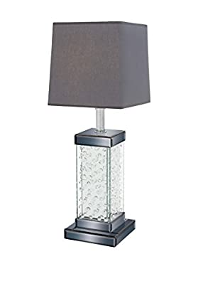 Glass Table Lamp, Grey