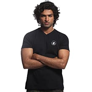 Ooz V-Neck Men's T-Shirt-Black