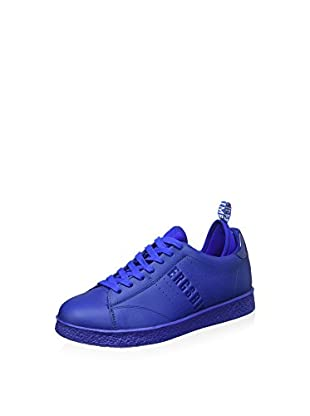 Bikkembergs Best 596 L.Shoe M Leather (With Socks) Scarpe Low-Top, Uomo, Blu, 41