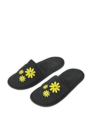 H.Due.O Pantofole Hippy Flowers Giallo
