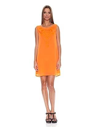 Tantra Vestido Embroidery Straps Flúor (Naranja)