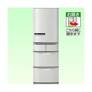 日立 415L 5ドア冷蔵庫(ハイブライトステンレス)HITACHI フロストリサイクル冷却 ビッグ&スリム60 R-S42CM-SH