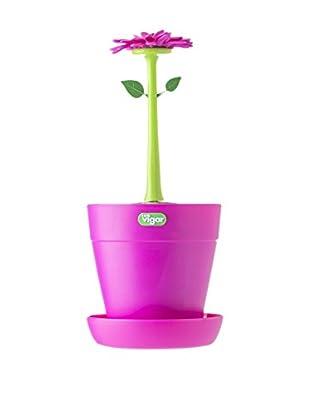 VIGAR Escurrecubiertos Flower Power Rosa / Verde