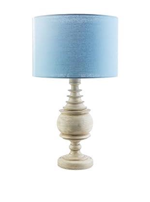 Surya Acacia Outdoor Table Lamp, Aqua/Antique White