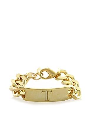 Ettika 18K Gold-Plated T Initial ID Bracelet