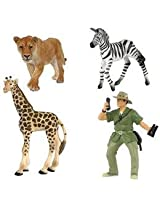 Bush Doctor & Jungle Animals Figure Set