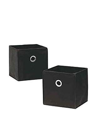 Organize It All Set of 2 Cube Bins, Black