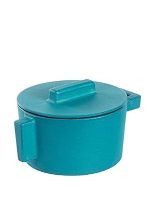 Sambonet Kasserolle mit Deckel azurblau