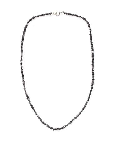 Catherine Angiel 14K White Gold Black Diamond Necklace