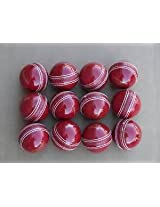 Genuine Leather Cricket Ball Yorker Set of 6 International Standards Long Durable Hand Stiched Fine Quality Water Proof