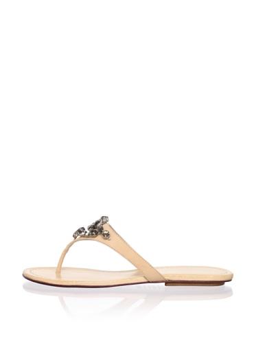 Schutz Women's Rhinestone Thong Sandal (Skin)