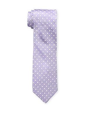 Bruno Piattelli Men's Slim Dotted Tie, Lilac