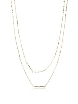 Elizabeth and James Gold-Plated Berlin White Topaz Station Chain Necklace