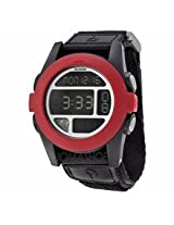 Nixon Baja Digital Black And Red Polycarbonate Mens Watch A489760