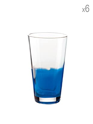 Guzzini Set 6 Bicchieri Bibita Mirage Blu