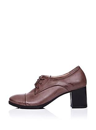 Ziya Zapatos Derby Tacón (Marrón)