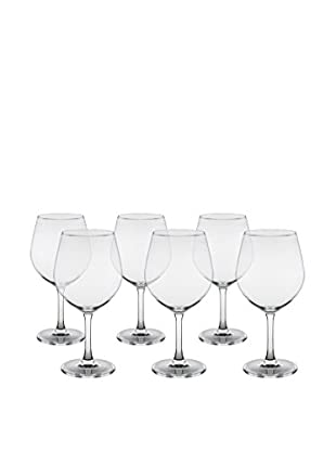10 Strawberry Street Set of 6 Bali Glass Beer Goblets, Clear