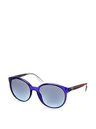 GUCCI Women's GG 3697/S Transparent Blue/Gray Gradient Turquoise Sunglasses