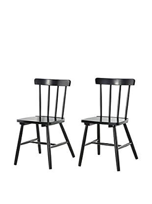 Stuhl 2er Set Art. schwarz