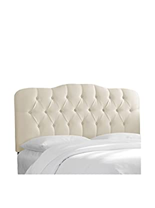 Skyline Furniture Tufted Queen Headboard, Shantung Parchment