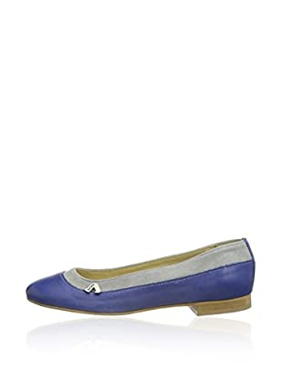 Aces of London Slippers Woman Ballerina leather (Azul)