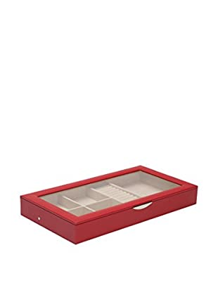 WOLF Jewelry Tray with Lid, Red