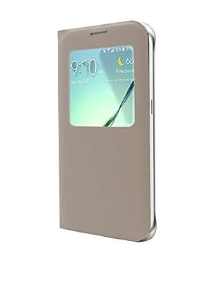 Unotec Funda Flip-S Samsung Galaxy S6 Dorado