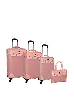 Adrienne Vittadini Saffiano 4-Pc Luggage Set, Mauve