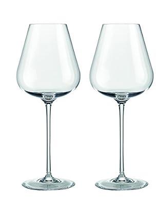 Rogaška Set of 2 Aurea White Wine Glasses, Clear