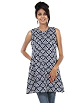 Rajrang Cotton Kurti - PTP00074 (Blue)