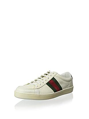 Gucci Men's Lowtop Sneaker (White/Green/Red)