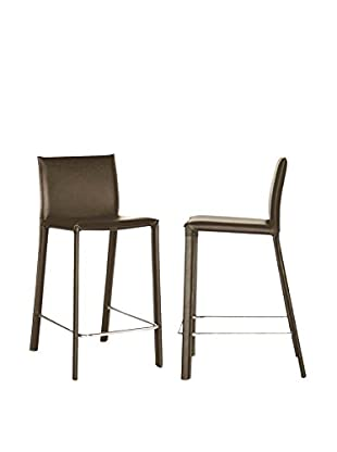 Baxton Studio Set of 2 Elana Leather Counter Stools