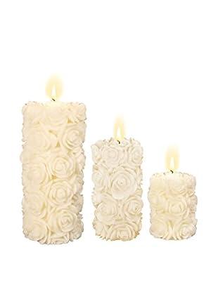 Volcanica Set of 3 Flora Pillar Candles